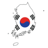 south-korea-flag-map